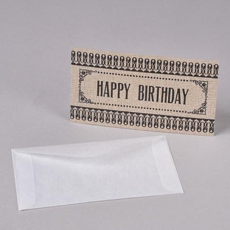 CARTE CADEAU HAPPY BIRTHDAY made in USA