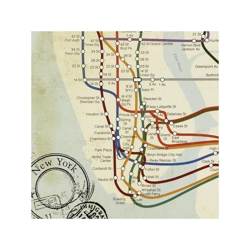 New York Subway Map Art.Subway New York City Map Art Print Le Comptoir Americain