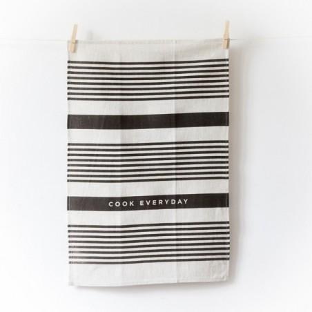 "Torchon en Lin ""COOK EVERYDAY"" by STUDIOPATRO - made in USA"