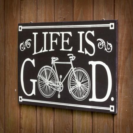 Panneau bois rétro Vélo serigraphié main  made in USA