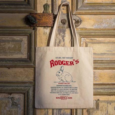 """Sac  coton imprimé """"RODGER'S Bunny Pellet"""" made in USA"""