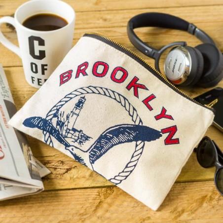 """Pochette coton """"BROOKLYN SEA SALT"""" made in USA"""