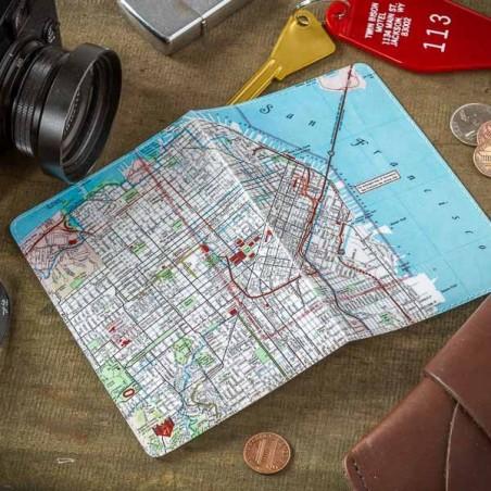 San Francisco Map Passport Holder - Made in USA