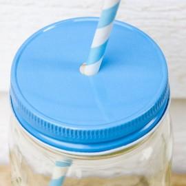 Couvercles pour paille Regular - Bleu ciel - made in USA