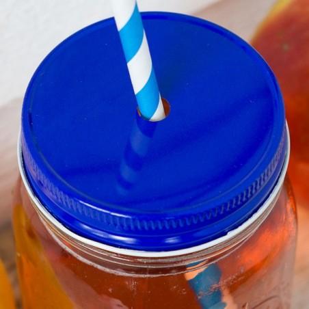 Couvercles pour paille Regular - Bleu - made in USA
