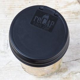 reCAP Mason Jars Flip Cap Regular BLACK - Made in USA