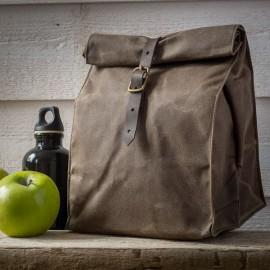Lunch Bag coton huilé BRUN  made in USA