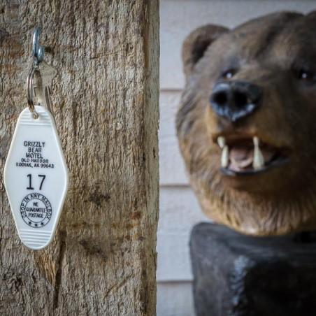 PORTE CLEF GRIZZLY BEAR MOTEL Alaska made in USA