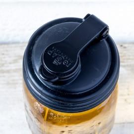 reCAP Mason Jars Cap Regular - Black - Made in USA