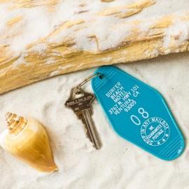 MOTEL Key tag  SURFER BEACH MOTEL made in USA