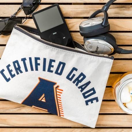 """Pochette coton """"Certified Grade A"""" - made in USA"""