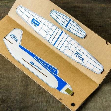 Kit avion en Balsa TURBO FLYER® BLEU Made in USA