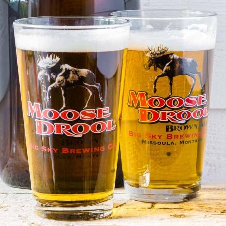 Duo de verres à bière Moose Drool - made in USA