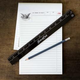 Black Steel Ruler HESTER & COOK