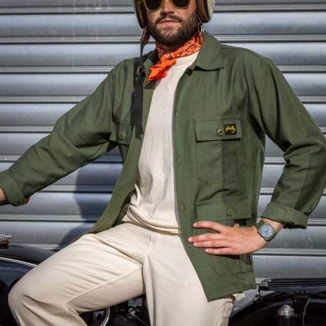 4 Pocket Jacket Olive Sateen ⎜stan Ray⎜le Comptoir Americain