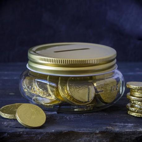 Tirelire Mason Jar Grande Fortune - Made in USA