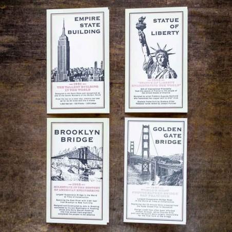 CARTES DE CORRESPONDANCES MONUMENTS made in USA