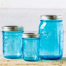 Box Blue Tribute to Mason Jar Ball  Made in USA