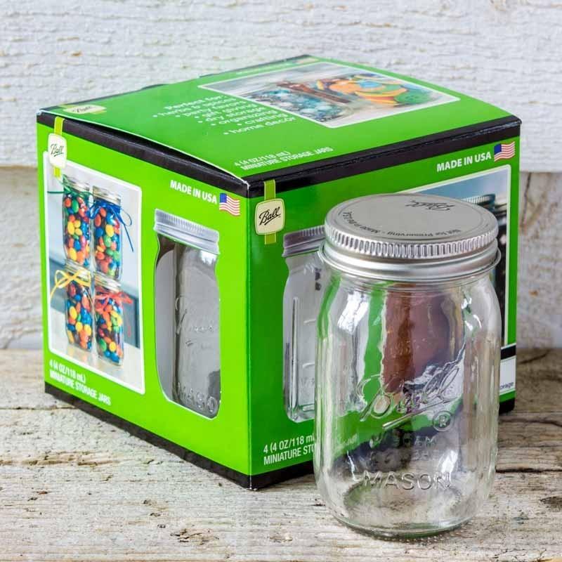 4oz Handled Jar Wwhite Sifter Caps Mason Jar Le Comptoir