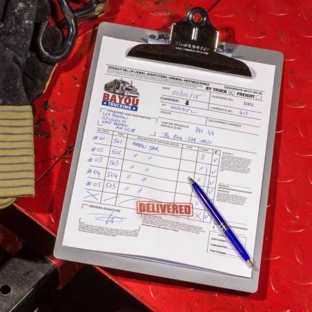 Bloc note à pince A4 aluminium recyclé SAUNDERS MFG™ Made in USA