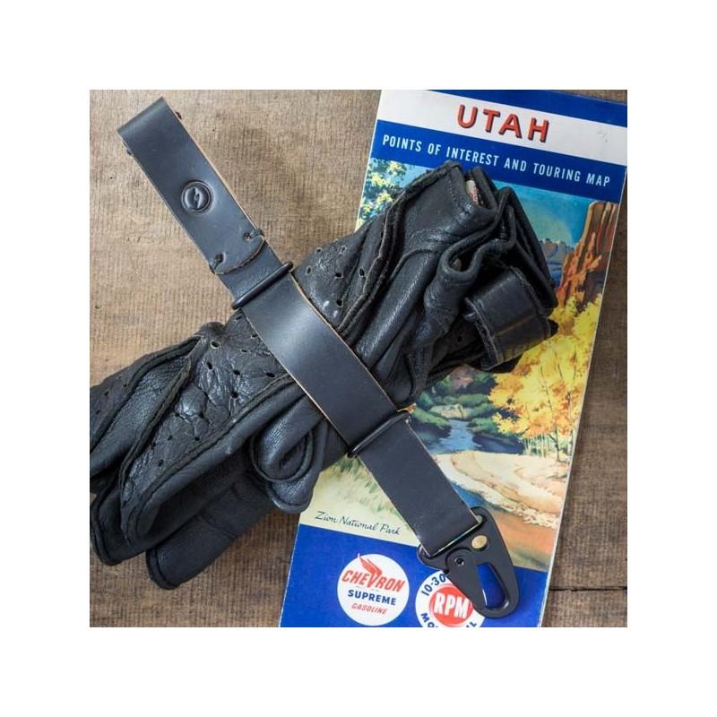Porte gant E3 cuir Noir Made in USA⎟ lecomptoiramericain 330aa36c3d7