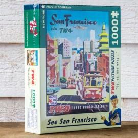 Puzzle San Francisco via TWA - Made in USA