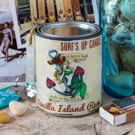 Bougie parfumée Surf Up VANILLA ISLAND RUM - made in USA
