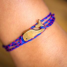 Bracelet sur cordon Baleine CAPE CLASP - made in USA