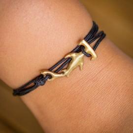 Bracelet Requin Marteau  cordon rouge jaune  CAPE CLASP - made in USA
