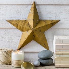 AMISH TIN BARN STAR mustard Yellow made in USA