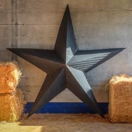AMISH TIN BARN STAR BLACK made in USA