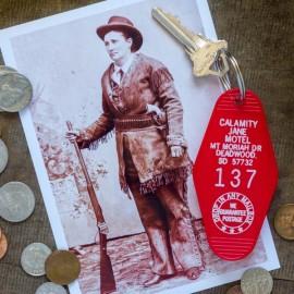 CALAMITY JANE MOTEL VINTAGE  KEY TAG made in USA