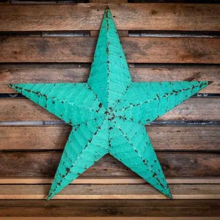 AMISH TIN BARN STAR light green made in USA ...