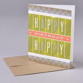Carte HAPPY B-DAY ZIG ZAG