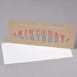 Carte WONDERFUL BIRTHDAY made in USA