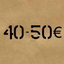 40 € - 50 €