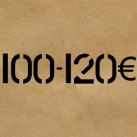 100 € - 120 €